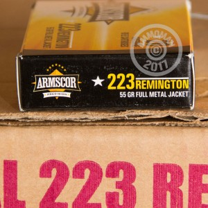 Photo of 223 Remington FMJ ammo by Armscor for sale.