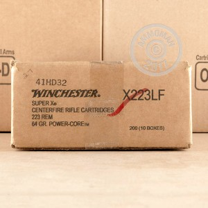 Image of Winchester 223 Remington rifle ammunition.