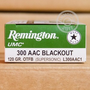 A photograph of 20 rounds of 120 grain 300 AAC Blackout ammo with a Open Tip bullet for sale.