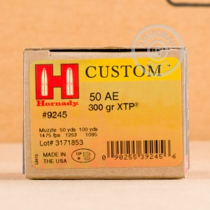 An image of 50 Action Express ammo made by Hornady at AmmoMan.com.