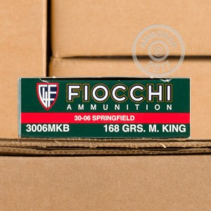 Photo of 30.06 Springfield Hollow-Point Boat Tail (HP-BT) ammo by Fiocchi for sale.