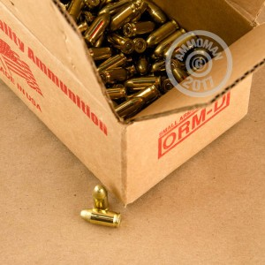 A photograph of 250 rounds of 95 grain .380 Auto ammo with a FMJ bullet for sale.