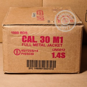 Image of .30 Carbine pistol ammunition at AmmoMan.com.