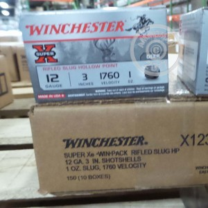 Photo showing 15 rounds of 12 Gauge ammo made by Winchester.