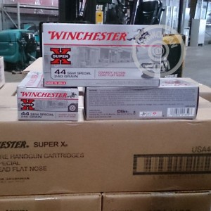 A photo of a box of Winchester ammo in 44 Special.
