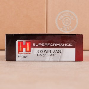 Photo of 300 Winchester Magnum GMX ammo by Hornady for sale.