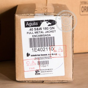 Image of Aguila .40 Smith & Wesson pistol ammunition.