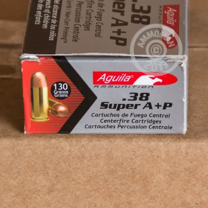 Image detailing the brass case and boxer primers on the Aguila ammunition.