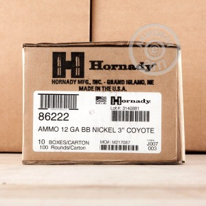 Photograph of Hornady 12 Gauge BB for sale at AmmoMan.com