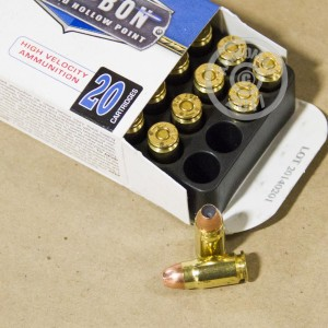 An image of 357 SIG ammo made by Corbon at AmmoMan.com.