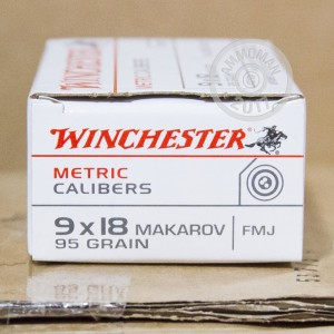 Image of 9x18 Makarov ammo by Winchester that's ideal for training at the range.