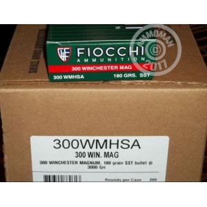 An image of 300 Winchester Magnum ammo made by Fiocchi at AmmoMan.com.