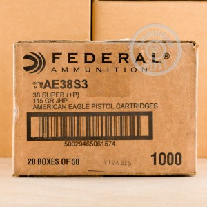 Image of Federal 38 Super pistol ammunition.