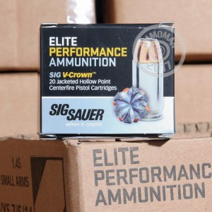 Image of .380 Auto ammo by SIG that's ideal for home protection.