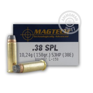 Image of 38 Special ammo by Magtech that's ideal for home protection, training at the range.