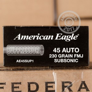 Image of .45 Automatic pistol ammunition at AmmoMan.com.