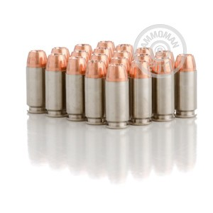 Photo of .40 Smith & Wesson JHP ammo by Speer for sale at AmmoMan.com.