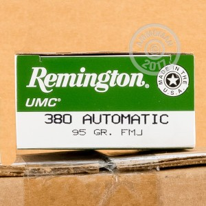 Image of Remington .380 Auto pistol ammunition.