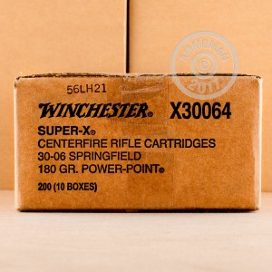 An image of 30.06 Springfield ammo made by Winchester at AmmoMan.com.