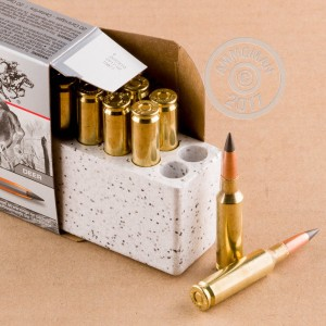 Image of Winchester 6.5MM CREEDMOOR rifle ammunition.
