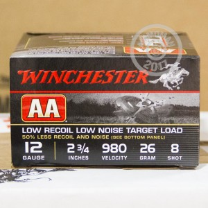 Photograph of Winchester 12 Gauge #8 shot for sale at AmmoMan.com