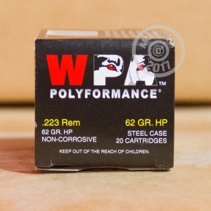 A photo of a box of Wolf ammo in 223 Remington.