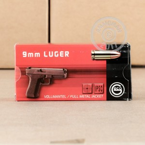 Image of 9mm Luger ammo by GECO that's ideal for training at the range.