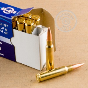 Image of 7.5 X 55 ammo by Prvi Partizan that's ideal for training at the range.