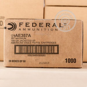 Photo of 357 Magnum Jacketed Soft-Point (JSP) ammo by Federal for sale at AmmoMan.com.