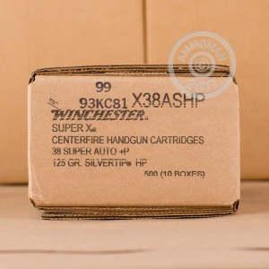 Image of 38 Super ammo by Winchester that's ideal for home protection.