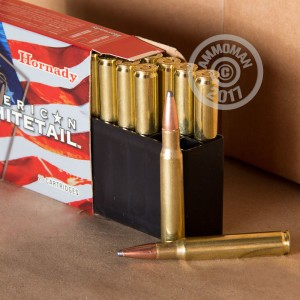 A photograph of 20 rounds of 150 grain 30.06 Springfield ammo with a soft point bullet for sale.