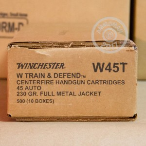 Image of Winchester .45 Automatic pistol ammunition.