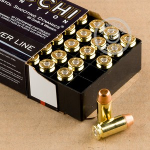 Image of .40 Smith & Wesson ammo by Fiocchi that's ideal for training at the range.
