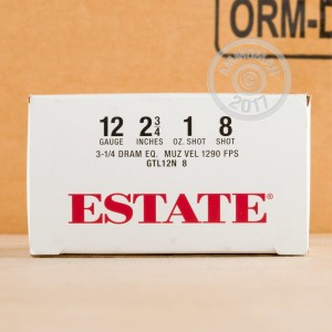 Great ammo for shooting clays, target shooting, upland bird hunting, these Estate Cartridge rounds are for sale now at AmmoMan.com.