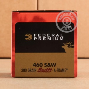 A photo of a box of Federal ammo in 460 Smith & Wesson.
