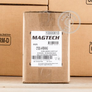 Image of 44 Remington Magnum ammo by Magtech that's ideal for home protection.