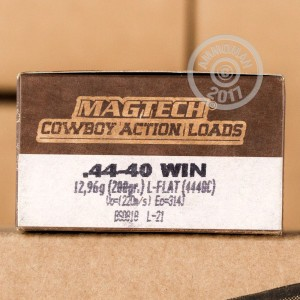 A photo of a box of Magtech ammo in 44-40 WCF.