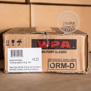 Image of 30.06 Springfield ammo by Wolf that's ideal for training at the range.