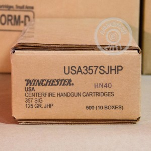 Image of 357 SIG ammo by Winchester that's ideal for home protection.