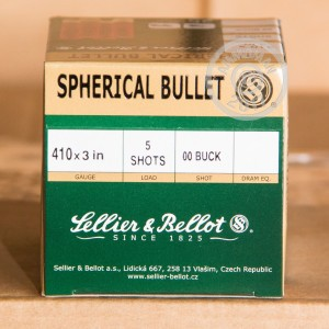 Great ammo for hunting or home defense, these Sellier & Bellot rounds are for sale now at AmmoMan.com.