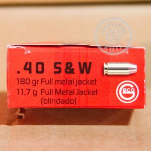 Photo of .40 Smith & Wesson FMJ ammo by GECO for sale at AmmoMan.com.