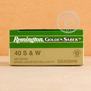 A photograph of 500 rounds of 180 grain .40 Smith & Wesson ammo with a JHP bullet for sale.