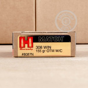 Image of 308 / 7.62x51 ammo by Hornady that's ideal for precision shooting, training at the range.