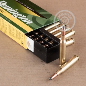 A photograph detailing the 270 Winchester ammo with soft point bullets made by Remington.