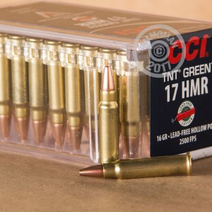 rounds of 17 HMR ammo with HP bullets made by CCI.