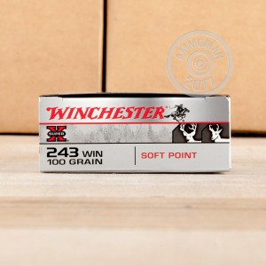 A photo of a box of Winchester ammo in 243 Winchester.