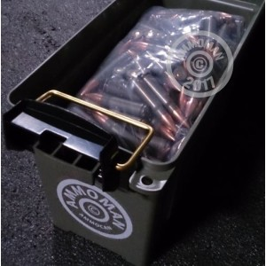 Image detailing the steel case and  primers on 375 rounds of Mixed ammunition.