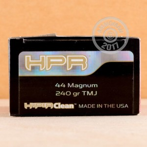 Photo of 44 Remington Magnum TMJ ammo by HPR for sale at AmmoMan.com.
