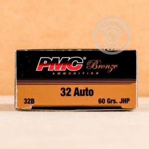 An image of .32 ACP ammo made by PMC at AmmoMan.com.
