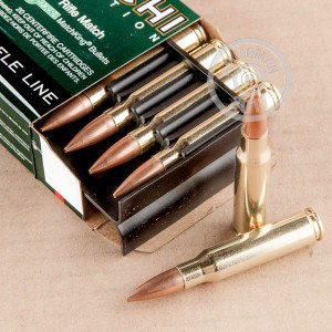 Photo of 308 / 7.62x51 Hollow-Point Boat Tail (HP-BT) ammo by Fiocchi for sale.